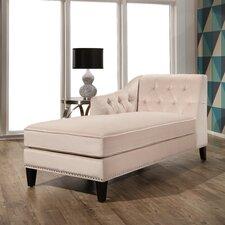 Meera Velvet Chaise Lounge