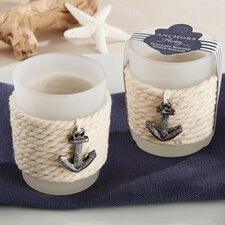 Anchors Away Rope Tealight Holder (Set of 16)