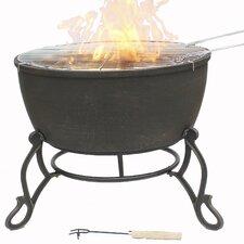 Meredir Cast Iron Wood/Charcoal Fire Pit