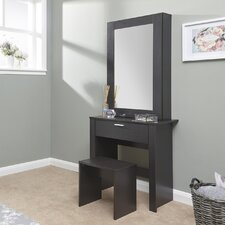 Gumm Sliding Door Dressing Table Set with Mirror