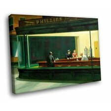 'Nighthawks Phillies' by Edward Hopper Painting Print on Canvas