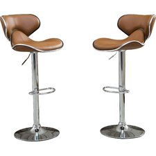 Harlow Adjustable Height Swivel Bar Stool (Set of 2)