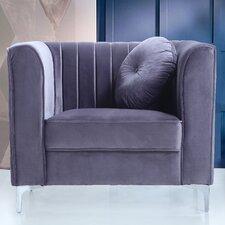 Traditional Velvet Armchair