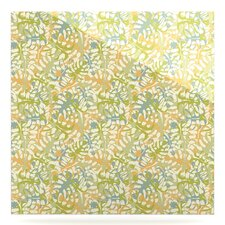 'Warm Tropical Leaves' Graphic Art Print on Metal