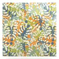 'Summer Tropical Leaves' Graphic Art Print on Metal