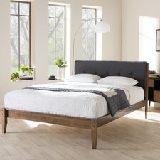 cadena king upholstered platform bed - Wooden Platform Bed