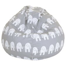 Elephant Print Bean Bag Chair