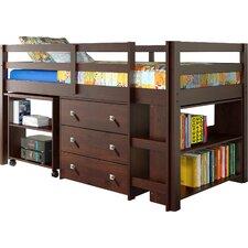 zechariah twin low loft bed with storage