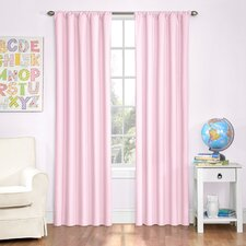 Cristopher Solid Blackout Rod Pocket Single Curtain Panels