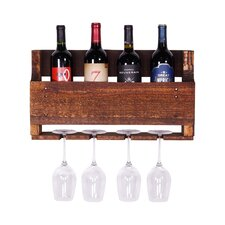 Kindred 4 Bottle Wall Mounted Wine Rack