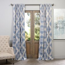 Lance Damask Blackout Thermal Single Curtain Panel