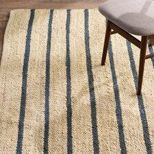 Cripps Hand-Woven Black/Wheat Area Rug