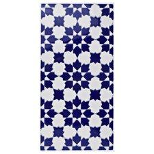 "Esna 5.5"" x 11"" Ceramic Patterned/Field Tile in Blue/White"