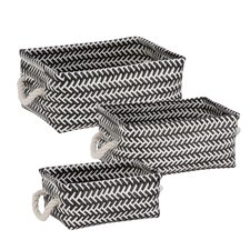 3 Piece Zig Zag Basket Set