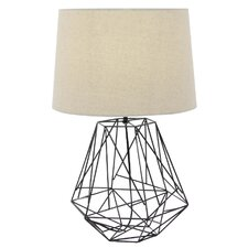 "Roney Elegant Metal Black Wire 25"" Table Lamp"