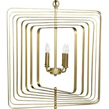 Demaclema Metal 4-Light Candle-Style Chandelier