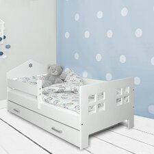 Kinderbett Lucia mit Matratze und Schublade, 80 x 160 cm