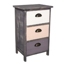 Apus 3 Drawer Bedside Table