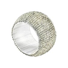 Metal And Beads Napkin Ring (Set of 4)