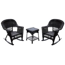 Burtch Wicker Rocking Chair (Set of 2)