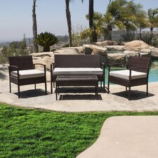 4 Piece Deep Seating Group with Cushion