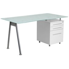Yorklyn 3 Drawer Pedestal Computer Desk