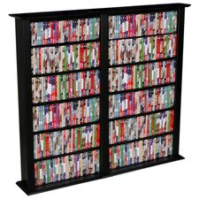 Regular Double Multimedia Storage Rack