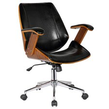 Smythe Mid-Back Leather Desk Chair