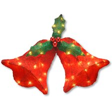 Bell with Bow Christmas Decoration with 45 Clear Lights