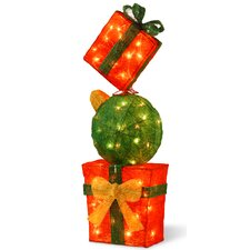 Decorative Décor Pre-Lit Gift Box Tower Christmas Decoration