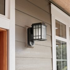 Smart Security with Camera 1-Light Outdoor Wall Lantern
