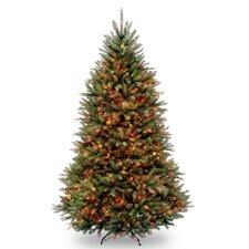 Fir 7.5' Hinged Green Artificial Christmas Tree with 750 Multicolored Lights
