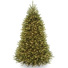 Fir 7' Hinged Green Artificial Christmas Tree with 700 Clear Lights