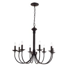 Blue Heron 8-Light Candle-Style Chandelier