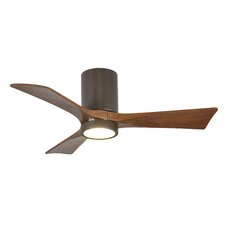 """42"""" Rosalind 3 Blade Hugger Ceiling Fan with Wall Remote and Light Kit"""