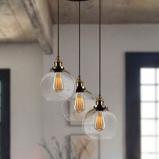 Warburton 3-Light Cascade Pendant