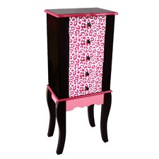 Fashion Prints Jewellery Armoire with Mirror