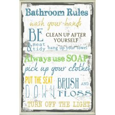 'Bathroom Tall Rectangle' Textual Art Wall Plaque