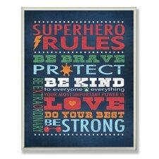 Callie Superhero Rules Wall Plaque