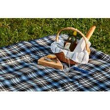 Royal Blue Plaid Outdoor Picnic Blanket