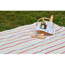 Pastel Color Stripes Outdoor Picnic Blanket