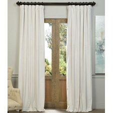Hackney Velvet Solid Blackout Grommet Single Curtain Panel
