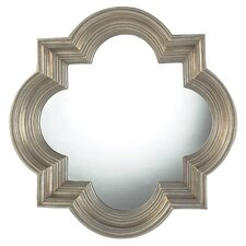 Silver and Champagne Metal Wall Mirror