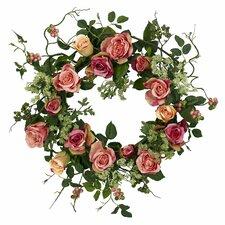 "20"" Pink Rose Wreath"