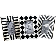 Horn & Bone Geometric Picture Frame (Set of 3)