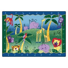 Camila Alphabet Jungle Kids Area Rug