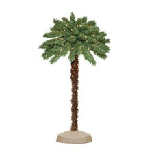 4' Green Tropical Artificial Christmas Palm Tree with 105 Clear Lights