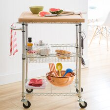 Taunton Kitchen Cart with Wood Top