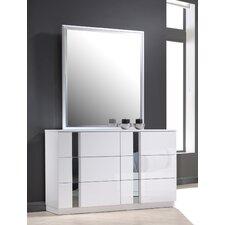 Honora 6 Drawer Dresser with Mirror
