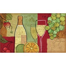 Ann Sangria Wine and Fruit Kitchen Mat